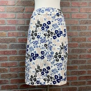 Ann Taylor Floral Skirt, Sz 12